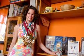 Zita, az Olimpiai Fáklyavivőnk