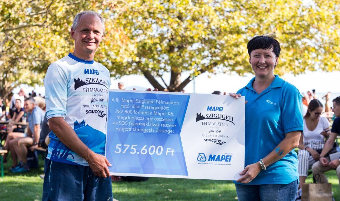 A futók háromnegyede adakozott a III. Mapei Szigligeti Félmaratonon